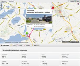 Automatische kilometer registratie applicatie