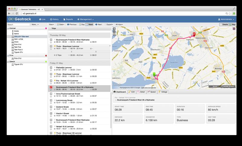 Automatische kilometerregistratie