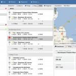 Geschiedenis module met alle bezochte locaties en kilometer registratie