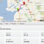 Dashboard met een compleet overzicht van de ritgegevens inclusief totaal aantal kilometers